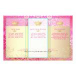 PixDezines pink flora damask Full Color Flyer