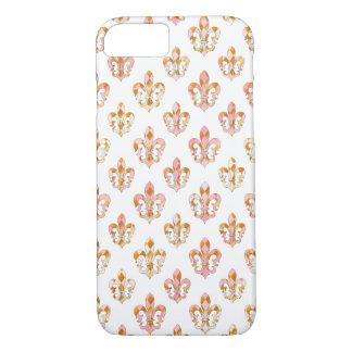 PixDezines pink gold fleur de lis/DIY background iPhone 7 Case