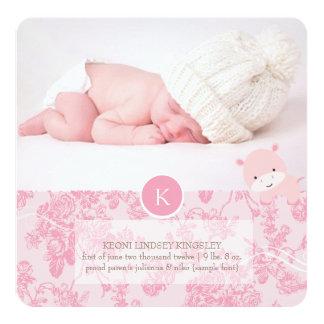 PixDezines pink hippo+toile Card