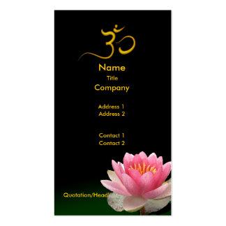 PixDezines Pink Lotus, meditative healers Business Card