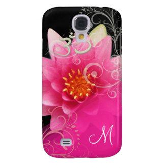PixDezines Pink Lotus/ Water Lily + Om Galaxy S4 Case