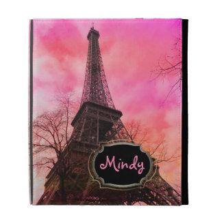 PixDezines pink paris/eiffel tower in winter iPad Folio Covers