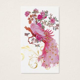 PixDezines pink peacock/diy background color Business Card