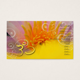 PixDezines pink rose water lilly+pearly swirls, om Business Card