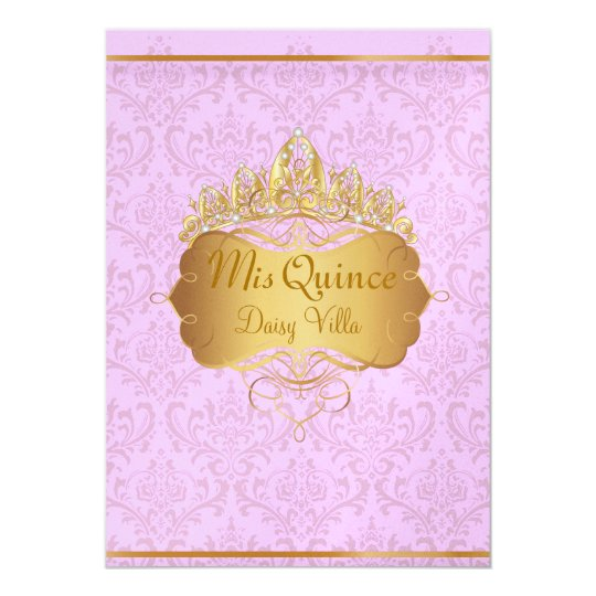 PixDezines pink rossi damask/diy background colour Card