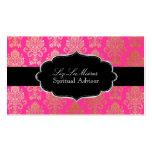 PixDezines Pink Victorian Damask/DIY colour Pack Of Standard Business Cards