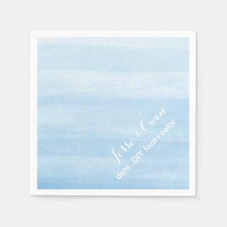 PixDezines placid blue digital watercolor Disposable Serviettes