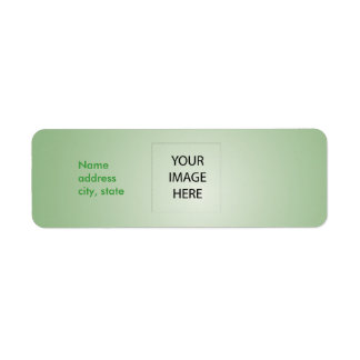 PixDezines Plain Celadon Easy Template Return Address Label