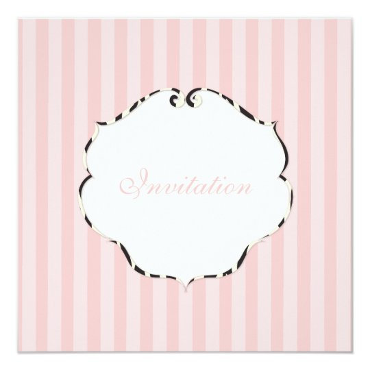PixDezines Plain stripes/DIY colour/pink Card