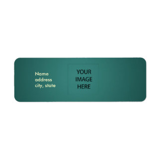 PixDezines Plain Teal Easy Template Return Address Label