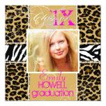 PixDezines/please use 2013/ 2012 Grads, cheetah 13 Cm X 13 Cm Square Invitation Card