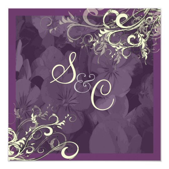 PixDezines plum+cream swirls Card