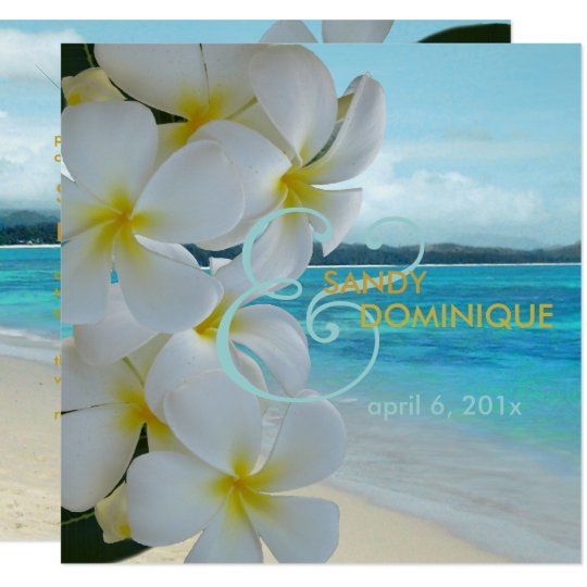 PixDezines PLUMERIA LEI/BEACH/TROPICAL/DIYfonts Card