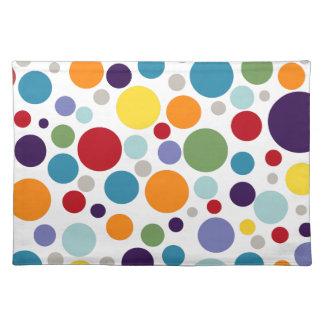 PixDezines polka dots, DIY background Place Mats