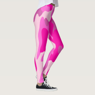 PixDezines Princess Camo, Flashy Hot Pink Leggings