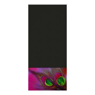 PixDezines Psychedelic Peacock, Customize It! Rack Card Design
