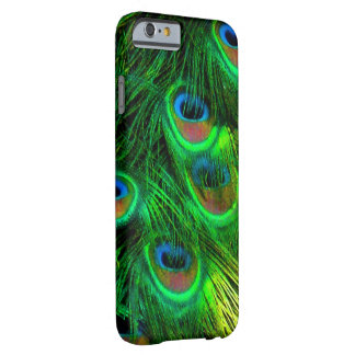 PixDezines Psychedelic Peacock, emerald green Barely There iPhone 6 Case
