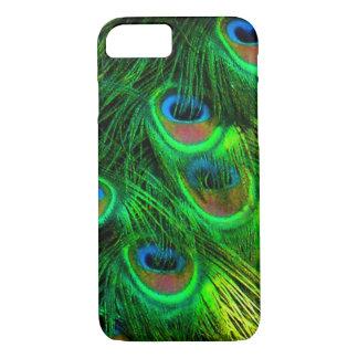 PixDezines Psychedelic Peacock, emerald green iPhone 7 Case