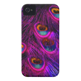 PixDezines Psychedelic Peacock, hot pink iPhone 4 Covers