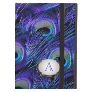 PixDezines psychedelic peacock/removable label Case For iPad Air