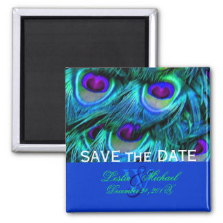 PixDezines Psychedelic Peacock, Save the Date Magnet