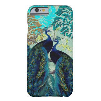 PixDezines Psychedelic Peacocks+Damask Barely There iPhone 6 Case