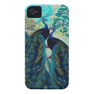 PixDezines Psychedelic Peacocks+Damask Case-Mate iPhone 4 Cases