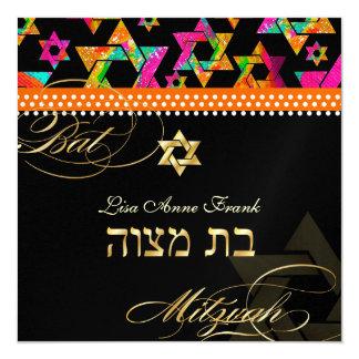 PixDezines Psychedelic Stars, Bat Mitzvah Card