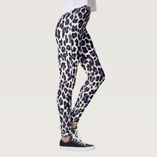 PixDezines Purple Leopard Print/DIY Background Leggings