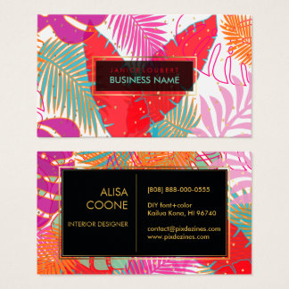 PixDezines rainforest/DIY background color Business Card