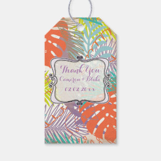 PixDezines rainforest/hawaii/foliage Pack Of Gift Tags