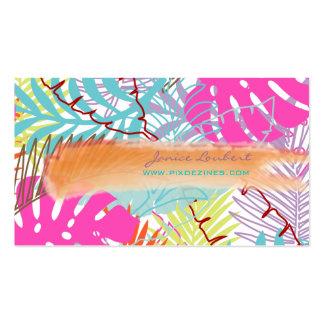 PixDezines rainforest tropical foliage DIY color Business Cards