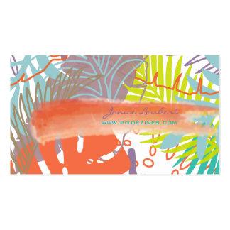 PixDezines rainforest tropical foliage DIY color Business Card Templates