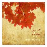 PixDezines red maple leaves/fall/autumn event Custom Invites