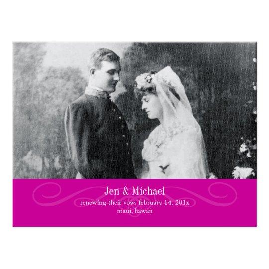 PixDezines Renewing Vows, save the date/DIY colour Postcard