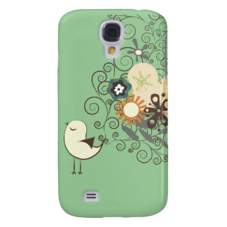 PixDezines Retro Chick, custom background color! Galaxy S4 Case