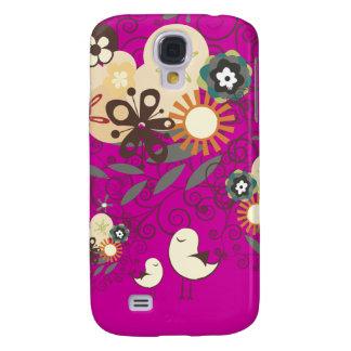PixDezines Retro Chick, mommy+baby/DIY/magenta Galaxy S4 Case