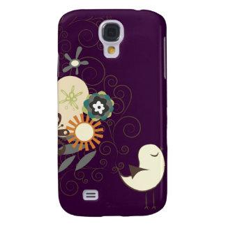 PixDezines Retro Chick, plum/DIY color! Galaxy S4 Case