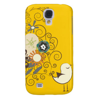PixDezines Retro Chick, yellow/DIY color! Galaxy S4 Case