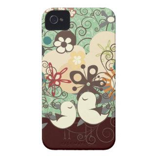 PixDezines Retro Chicks/DIY background color iPhone 4 Case-Mate Cases