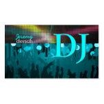 PixDezines Retro DJ+dance hall/aqua blue Pack Of Standard Business Cards