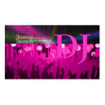 PixDezines Retro DJ+dance hall/hot pink Pack Of Standard Business Cards