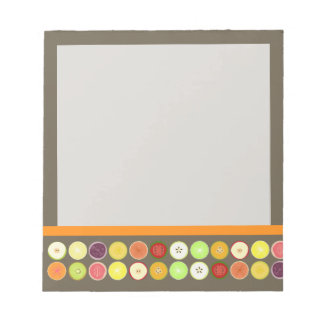 PixDezines retro fruit juice/diy background color Notepad
