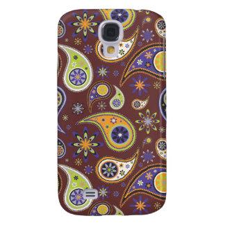PixDezines Retro Paisley, custom background color! Galaxy S4 Case