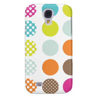PixDezines Retro Polkadots, Custom Color ♥♥♥♥ Galaxy S4 Case