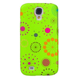 PixDezines Retro Stars, custom background color! Galaxy S4 Case