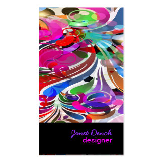 PixDezines Retro Swirls Pack Of Standard Business Cards