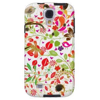 PixDezines Retro Tree/DIY background color Galaxy S4 Case