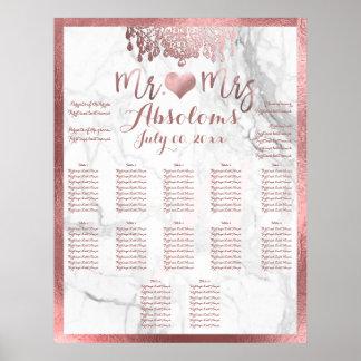 PixDezines Rose Gold Chandelier/Heart/Marble Poster
