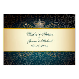 PixDezines Rossi Damask/Champagne, Advice Cards Business Card